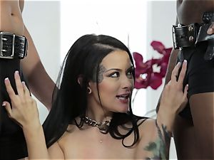 Katrina Jade gets a interracial cunny cramming three way