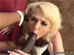 Tiffany Fox loves uncut black prick