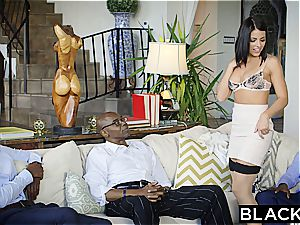 BLACKED brunette Adriana Chechik Takes three of BBCs
