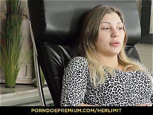 HER restrict - obscene blonde plunged in gaped butt