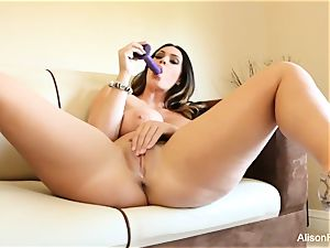 Alison Tyler plays with her cunt