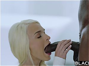 Getting a taste of the chocolate fellow and his large fuck-stick