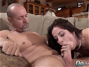 Karas hubby watches her takes phat rod