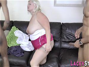 grandma butt penetrated in 3way