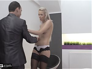 Glamkore luxurious european stunner Karol Striptease for her lover