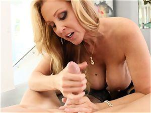 blonde cougar Julia Ann gets banged in stellar underwear