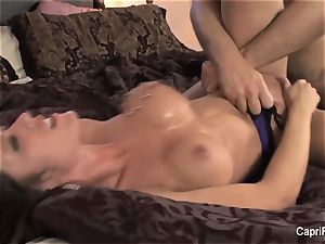 Capri Cavanni gets her puss smashed