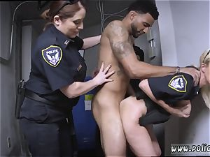 German milf gets poked and sloppy cop Don t be dark-hued and suspicious around dark-hued Patrol