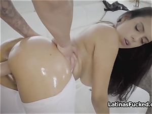 meaty boob tailoress oiled and porked rigid