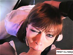 first Class point of view - Alexa Nova deepthroating a gigantic pecker in point of view