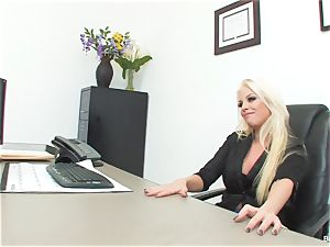 lucky dude porks boss Britney during his job interview