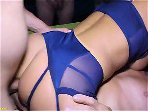 anal double penetration gangbang soiree with splendid Susi