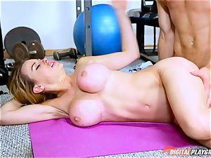 Corinna Blake in need of a rock-hard workout