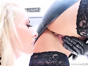 intimate GG Lapdance with red-hot busty all girl mummies toying
