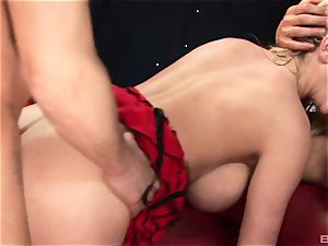 ash-blonde beef whistle addict with meaty jugs Paige Ashley