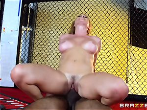 Krissy Lynn gets multiracial ravaging in the ring