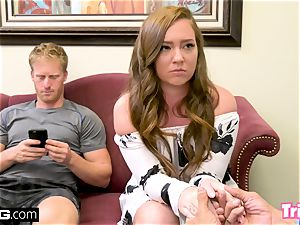 Maddy penetrates the therapist while her hubby waits